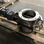 Rotary valves with SEW reducer