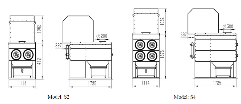 Cartridge Collector Outer Dimensions